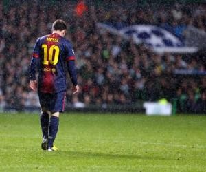 Messi en el partido Celtic-Barcelona