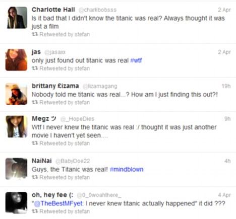 Ignorante: Estos tuiteros no tenían idea de que el Titanic era un barco de verdad