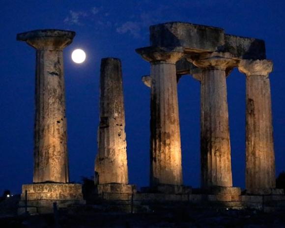 La superluna del año : En el Templo de Apolo.