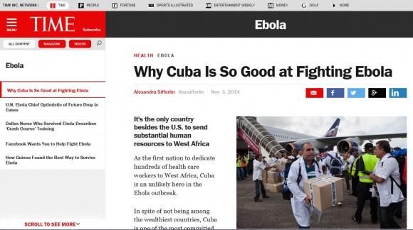 Artículo de Times sobre ayuda cubana