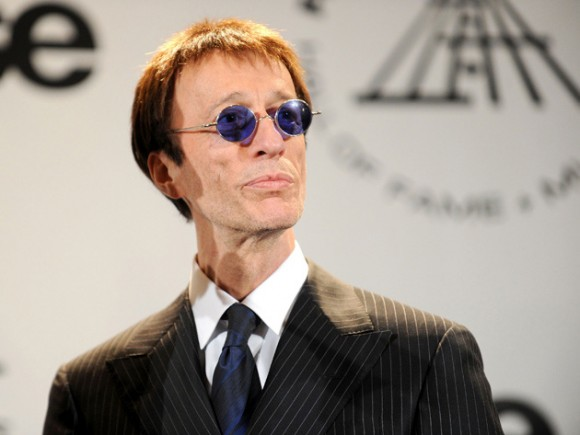Robin Gibb, cantante del legendario grupo pop de los Bee Gees. Foto: AFP