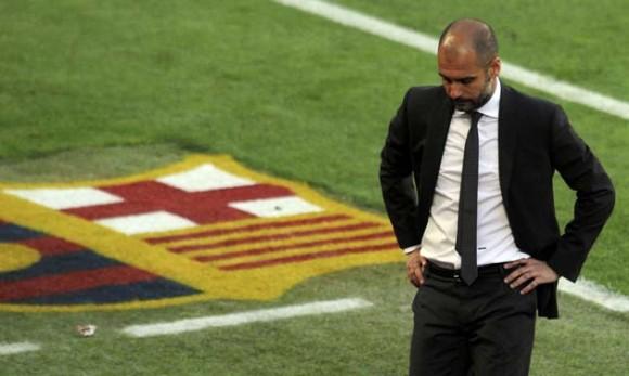 Josep Guardiola, técnico del Barcelona. Foto: Reuters