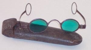 Gafas tintadas del siglo XVIII