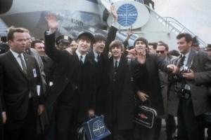 Una imagen del cuarteto a su llegada a Nueva York el 7 de febrero de 1964