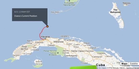 Localización de Diana Nyad