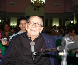 Alfredo Guevara durante el homenaje a la Escuela Internacional de Cine y Televisión San Antonio de los Baños. Foto: David Vázquez Abella/Cubadebate