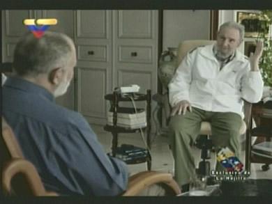 Fidel y Mario Silva. (Foto tomada de la Televisión)