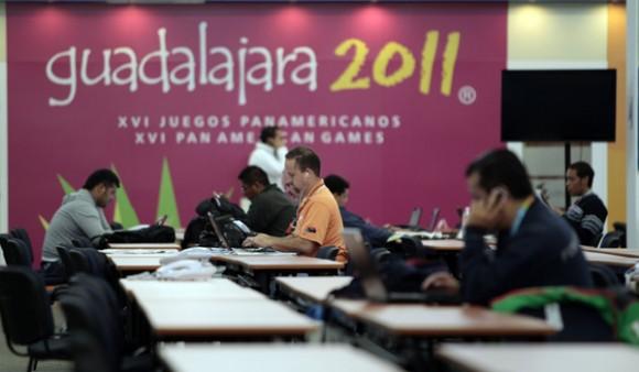 La Sala de Prensa de los Panamericanos de Guadalajara. Foto: Ismael Francisco