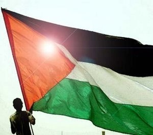 Bandera en Palestina