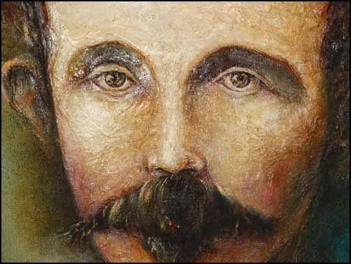 José Martí. Ilustración de José Luis Fariñas con el título